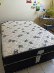 Cama box casal + colchão senior spring s/ pillow ortobom