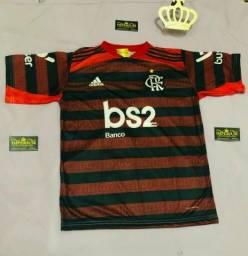 Promoção:Camisa flamengo cor vermelha e cinza, 30 reais