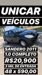 3 Mil De Entrada 48 x 560,00 Ficas / Sandero EXP 2011 1.0 Completo Top De Linha - 2011