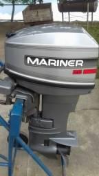 Motor de Popa Mariner, 25 HP - usado menos de 10 vezes