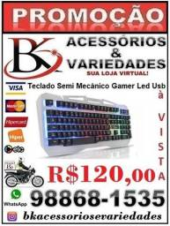 Teclado Semi Mecânico Gamer Led -(Loja BK Variedades) - Promoção