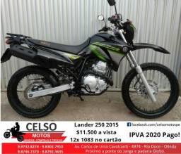 Lander 250 2015 Show IPVA 2020 Pago 12x no cartão Financio 48x aceito sua moto - 2015