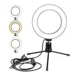 Ring Light de mesa, 8 polegadas, 20cm de altura
