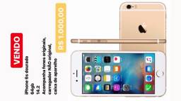 IPhone 6s dourado, 64gb 14.2