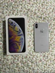 Iphone XS Max 256gb Branco Seminovo Com Nota Fiscal e Todos os Acessórios