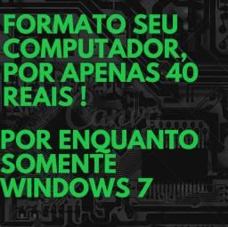 Formato seu Computador para windows 7