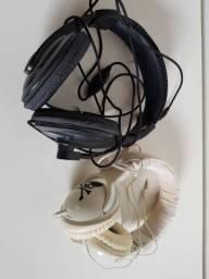 2 Fones de ouvido tipo concha
