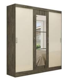 Título do anúncio: Guarda Roupa Vienna 3 Portas + Espelho Nogal Tex/Off Whit
