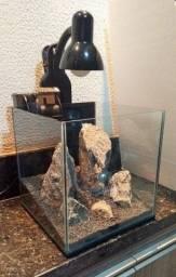Título do anúncio: Aquário Cubo 30³ (27 litros) - Completo!