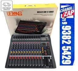 Mesa Lelong Le712 12 Canais Bluetooth Usb Profissional Nf