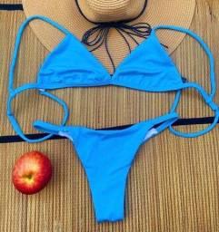 Título do anúncio: Biquíni azul piscina