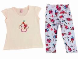 Conjuntos no cotton infantis com legging @foliakids.store