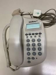 Telefone com fio intelbras ID com identificador chamadas