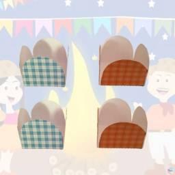 kit con 10 Forminhas Personalizadas para Docinhos/Doce de Festa tema Festa Junina