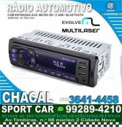 Título do anúncio: Rádio Multilaser P3349 bluetooth (grátis Serviço instalação)