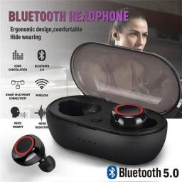 Título do anúncio: Fone de ouvido sem fio Bluetooth V5.0/Headphone Earbud Esportivo com microfone
