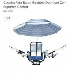 Título do anúncio: Cadeira de pesca giratória com suportes para barco