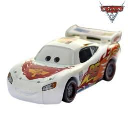 Mcqueen Branco Filme Carros Disney Mattel Miniatura Mcqueen 1:55