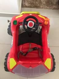 Carrinho De Passeio Smart Com Pedal Vermelho - Bandeirante