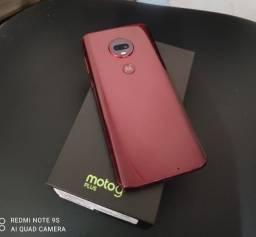 Título do anúncio: Motorola Moto G7 PLus - Cor Rubi - Zero Bala - Fone Lacrado e Pelicula Em GeL