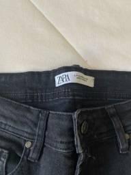 Título do anúncio: Calça Zara Jeans Preto 42