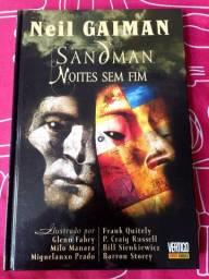 Sandman noites sem fim. Autografado por Bill sienkiewixz e Glenn fabry.