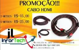 Cabo Hdmi Blindado Com Filtro E Malha De Nylon V1.4 Suporte 3D Full HD 1080
