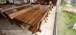 Mesa para churrasco 2,70 para 12 pessoas