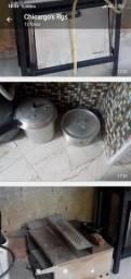 Mesa self-service fogão panela de pressão etc etc