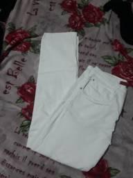 Calça jeans branca número 38