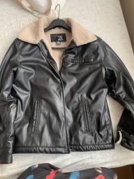 Jaqueta de couro importada