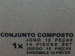 Jogo de vasilhas 10 peças. Na caixa.