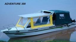 Lancha de alumínio Malloy modelo Adventure 300 para água doce