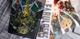 Livros e Histórias em quadrinhos (HQs) usados.
