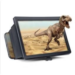 Lente De Aumento Tela 3d Suporte Ampliadora Zoom Celular F2