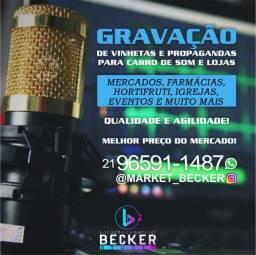 Gravação de vinhetas e propaganda para carro de som e frente de loja, 30 Reais