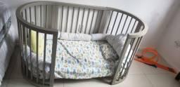 Berço 4 em 1 Crescer Sleeper - Laca Fendi - 3 anos