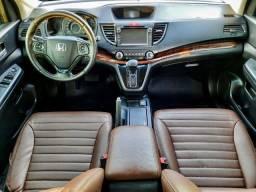 CR-V LX Automática Interior em Couro Marrom Exclusividade