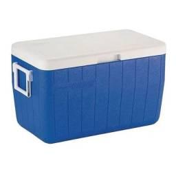 Caixa Termica Cooler 45,4l C/ Alça Azul Coleman