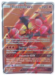 Promoção! Carta Pokémon Básico - Buzzwole Gx Ps190 - 104/111