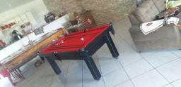 Título do anúncio: Mesa Tentação de 4 pés Tecido Vermelho Mod. 119EI1DM