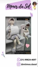 Boneca Vivi- Kit Banheiro (contém 2 bonecas P e G)