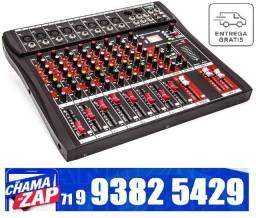 Mesa De Som Bluetooth Usb Mixer Mp3 Digital 8 Canais Le 711