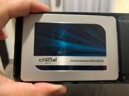 Título do anúncio: HD Externo ssd Crucial 500 GB