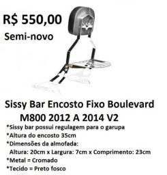 Sissy Bar Encosto Fixo Suzuki Boulevard M800