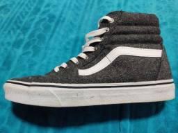 Tênis Vans Original Cinza - Vans Sk8-Hi Reissue Varsity Charcoal True White High-Top Skate