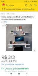Título do anúncio: Mesa suspensa para computador e estudo quarto