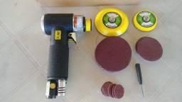 Título do anúncio: Mini lixadeira, esmerilhadeira, politriz roto orbital pneumatica nova na caixa
