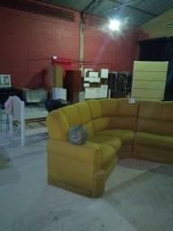Título do anúncio: Jogo de sofá de canto em excelente estado de conservação