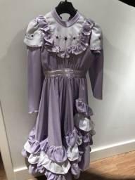 Vestido de Prenda Lilás